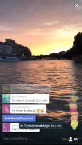 Romantisch: Bootsfahrt in Paris
