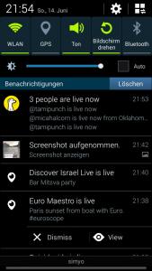 Interaktive Meldungen auf dem Smartphone