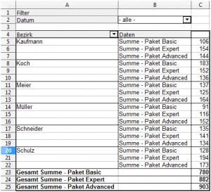 Pivot Tabelle 6