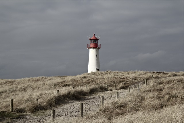 Ultraschall-Tracking -Beacon wie ein Leuchtturm