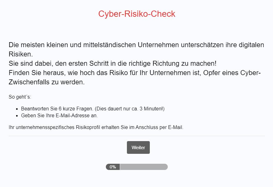 Cyber-Risiko-Check
