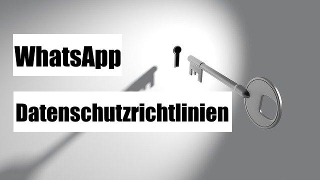 WhatsApp Datenschutzrichtlinien